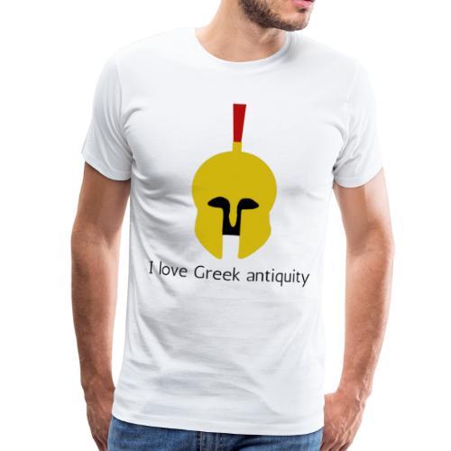 Casque Or d'un Hoplite Grec Antique - T-shirt Premium Homme