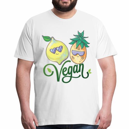 Veganer Vegetarier Tierschutz Geschenkidee - Männer Premium T-Shirt