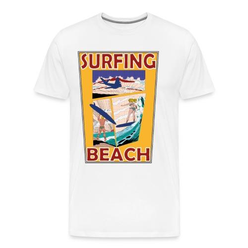 Surfing beach comic Urlaub t-shirt - Männer Premium T-Shirt