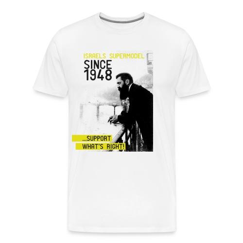Israel since 1948 | Theodor Herzl - Männer Premium T-Shirt