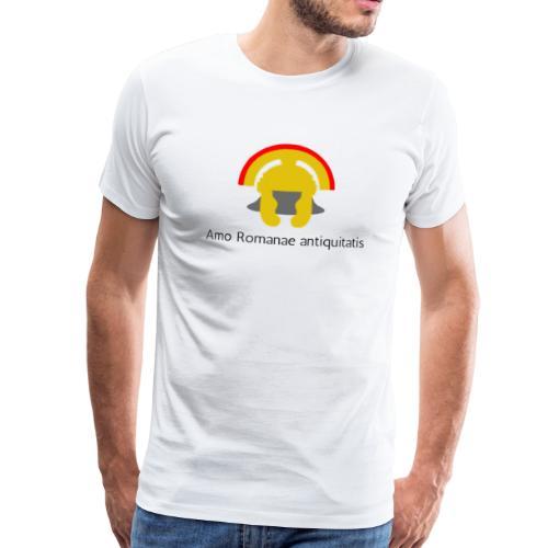 Casque antique de centurion en or (Latin) - T-shirt Premium Homme