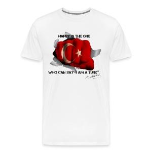 Ne mutlu Turkum diyene - Mannen Premium T-shirt