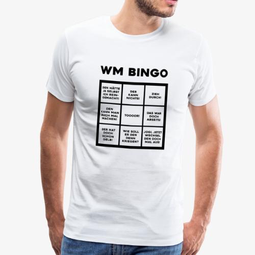 WM Bingo - Der ultimative Spaß für jeden Fan - Männer Premium T-Shirt