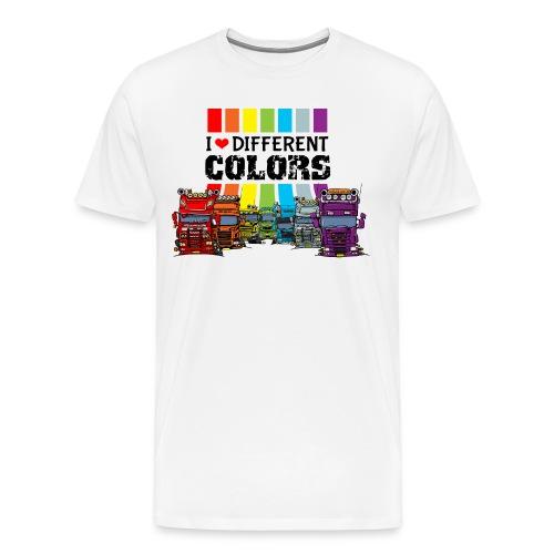 i love different colors trucks - Mannen Premium T-shirt