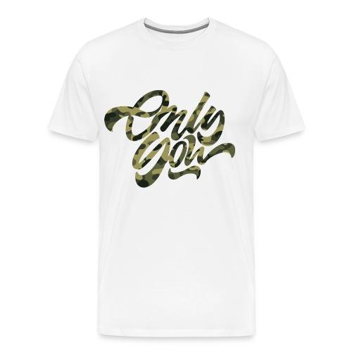 Only You- Camo Green - Men's Premium T-Shirt