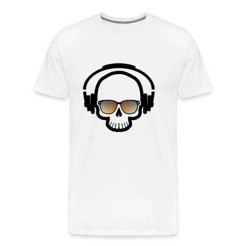 Skull Totenkopf Musik - Männer Premium T-Shirt