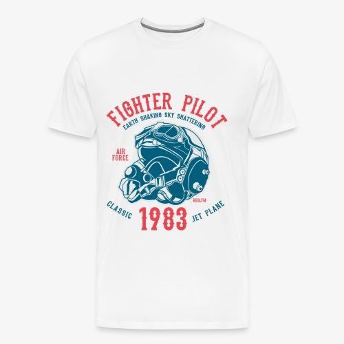 CLASSIC JET PLANE - Kampfjet Piloten Shirt Motiv - Männer Premium T-Shirt