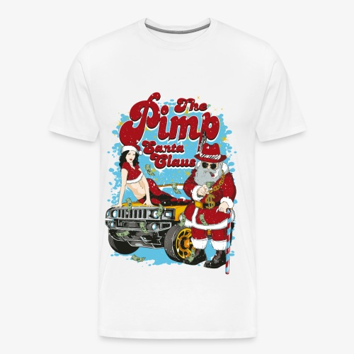 PIMP SANTA- Partie Weihnachtsmann Pin-Up Shirt - Männer Premium T-Shirt