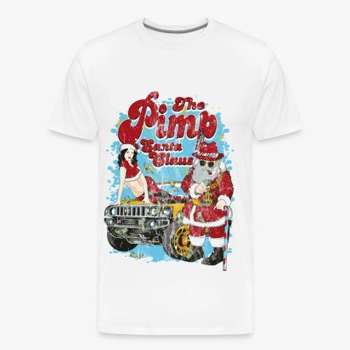 THE PIMP SANTA- Partie Weihnachtsmann Pin-Up Shirt - Männer Premium T-Shirt
