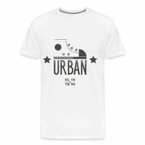 URBAN SNEAKER - Sportler Turnschuh Sport Shirt - Männer Premium T-Shirt