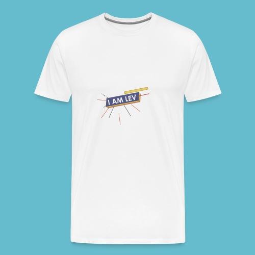 I AM LEV Banner - Mannen Premium T-shirt