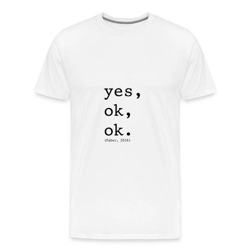 Quote Faber - Mannen Premium T-shirt