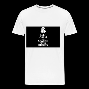 keep calm and search for the droids - Men's Premium T-Shirt