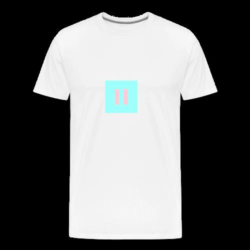 Pause Pastel Pink Logo - Men's Premium T-Shirt