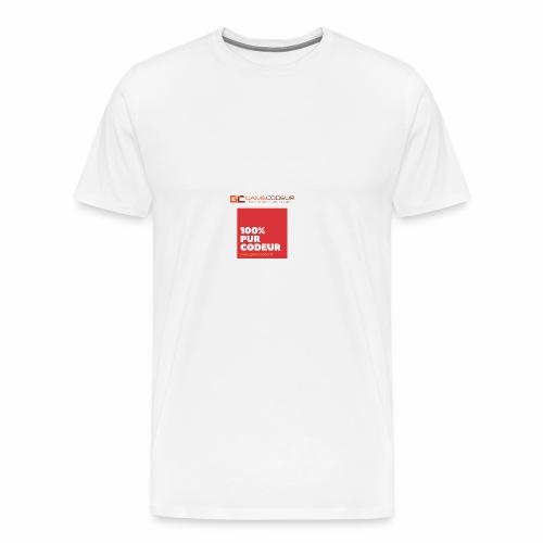 100% PUR CODEUR - CARRE ROUGE - T-shirt Premium Homme