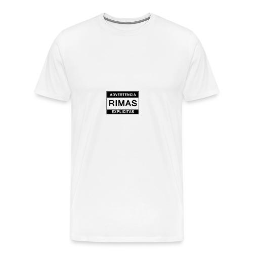 advertencia Rimas Explicitas - Camiseta premium hombre