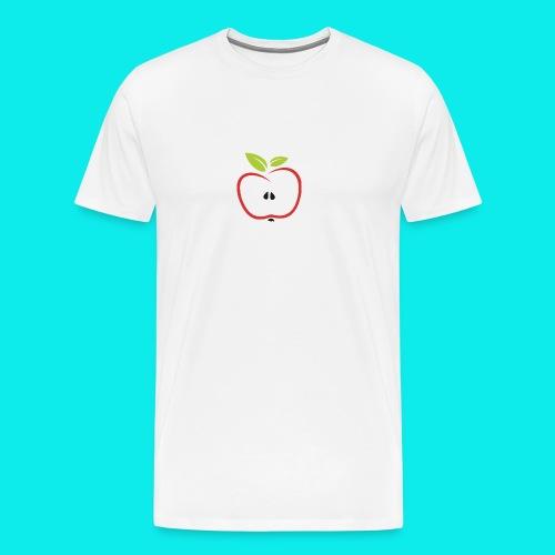 halber Apfel - Männer Premium T-Shirt