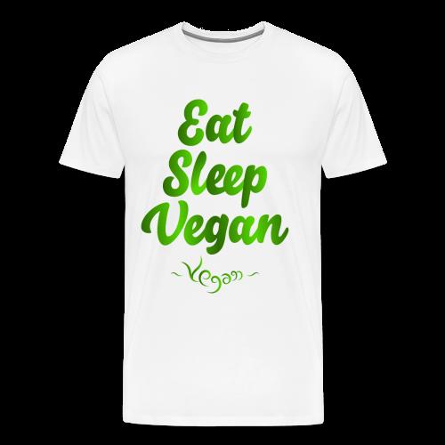 Eat Sleep Vegan - Miesten premium t-paita