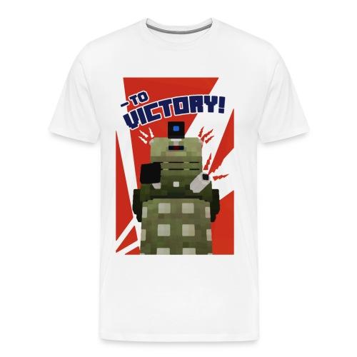Dalek Mod - To Victory - Men's Premium T-Shirt