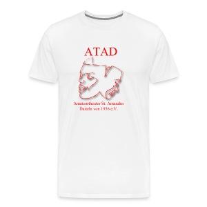 Logo Leicht mit Schrift rot1300x1300px - Männer Premium T-Shirt