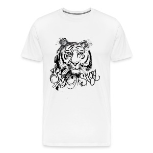 David Pucher Art Tiger - Männer Premium T-Shirt