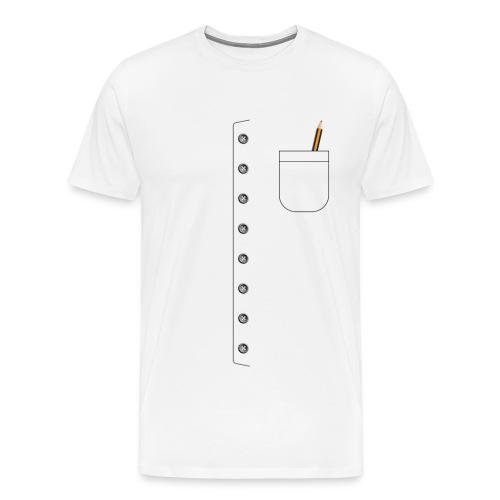 Divisa con bottoni e tasca con matita - Maglietta Premium da uomo