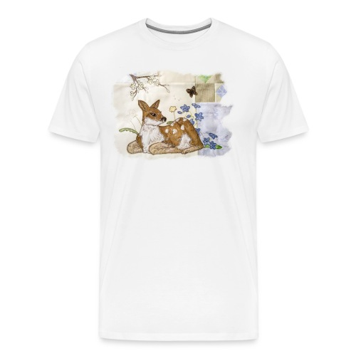 spring fawn - Men's Premium T-Shirt