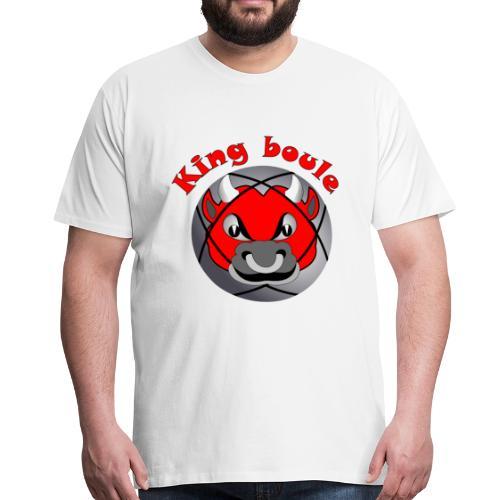 t shirt King boule roi pétanque tireur pointeur - T-shirt Premium Homme