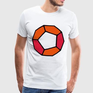 Dodecahedron / dodecaedro - Maglietta Premium da uomo