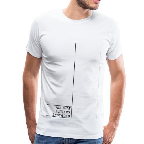 Minimal gold - Männer Premium T-Shirt
