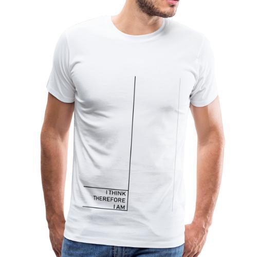 Minimal i think therefore i am - Männer Premium T-Shirt