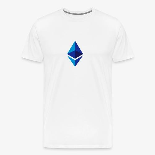 Ethereum Logo (Blau) - Männer Premium T-Shirt