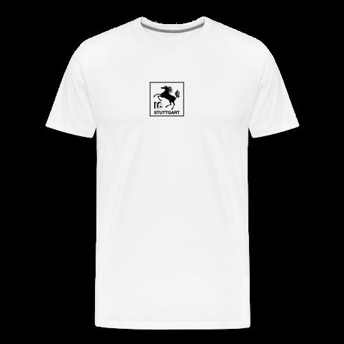 LC Stuttgart Logo quadratisch schwarz - Männer Premium T-Shirt