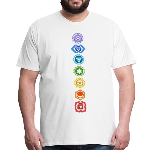 The 7 Chakras, Energy Centres Of The Body - Men's Premium T-Shirt