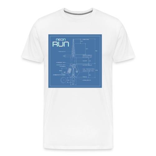 NeonRun blueprint - Mannen Premium T-shirt
