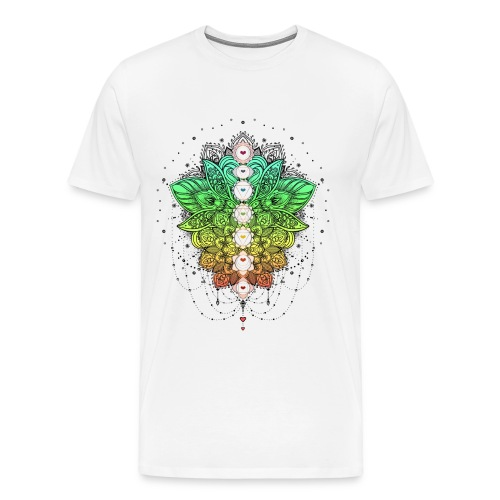 LOTUSBLUME CHAKRAS - Männer Premium T-Shirt