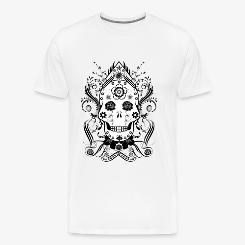 Flowery skull - Men's Premium T-Shirt