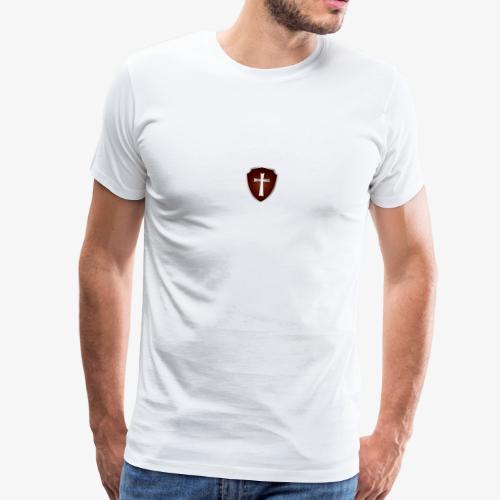 rotes Wappenschild mit Kreuz - Männer Premium T-Shirt