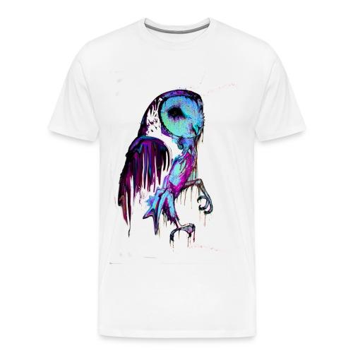 David Pucher Art Eule - Männer Premium T-Shirt