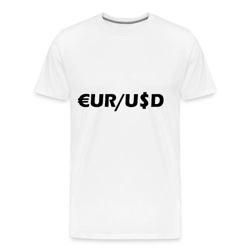 EUR/USD - Männer Premium T-Shirt