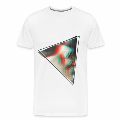 3D triangolo faccia - Maglietta Premium da uomo