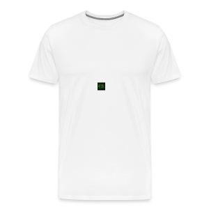 Wit baseball shirt Logo merk - Mannen Premium T-shirt