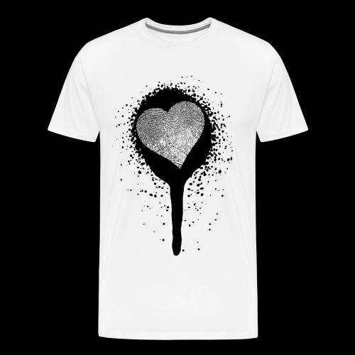 spray herz fingerabdruck - Männer Premium T-Shirt