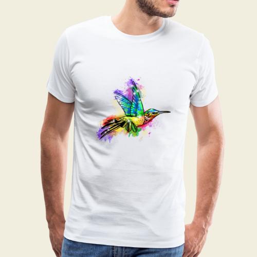 Farbexplosion Kolibri - Männer Premium T-Shirt