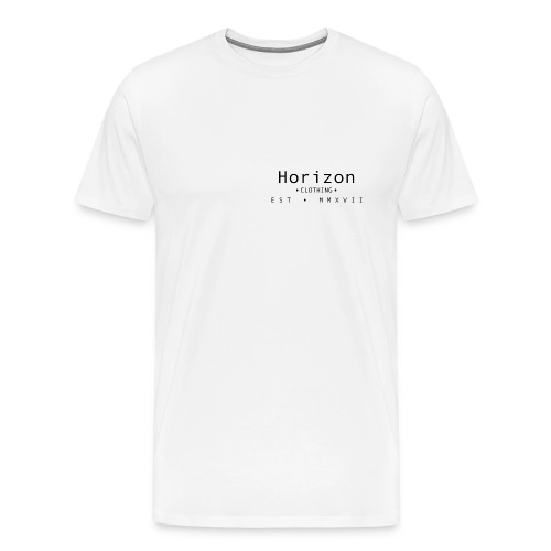 Black Horizon Logo - Men's Premium T-Shirt