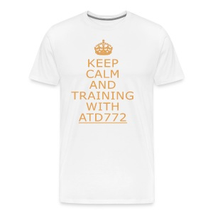 keep calm and Training with ATD772 - Maglietta Premium da uomo