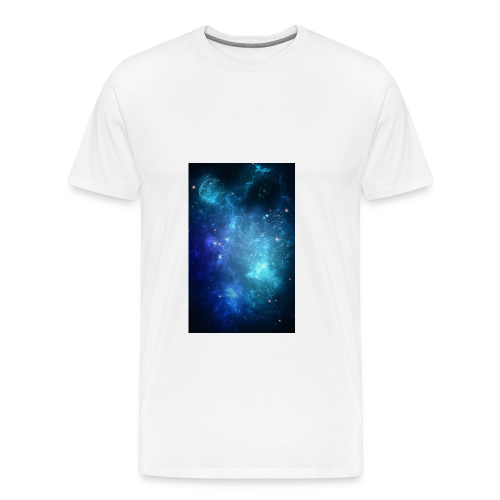 Blue galaxy wallpaper 31677 - Premium-T-shirt herr