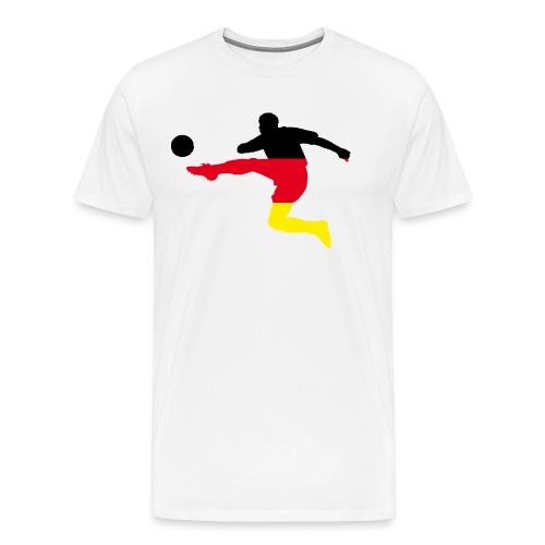 Fußball Bundesliga Deutschland Fahne Spieler Sport - Männer Premium T-Shirt