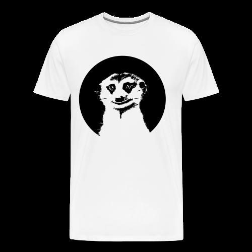 Stokstaartje groot rond - Mannen Premium T-shirt