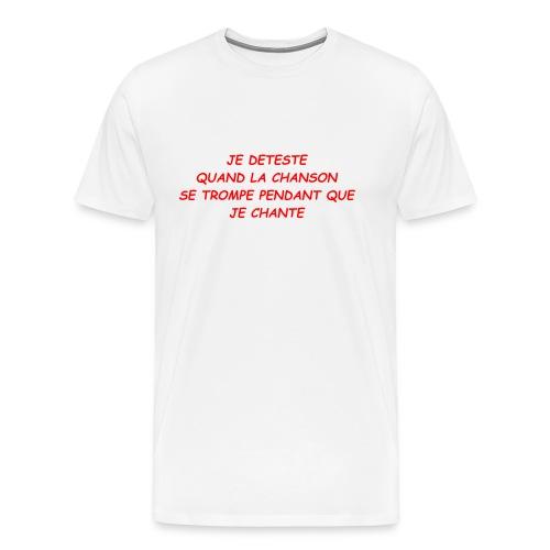 JE CHANTE - T-shirt Premium Homme